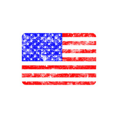illustration vector grunge stamp flag of United states country.