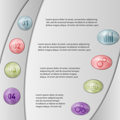 Vector illustration infographic template with step, options. Can be used for infographics, banner, poster, web design, brochure, presentation