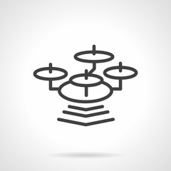 Simple line drone vector icon