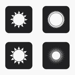 Vector modern sun icons set