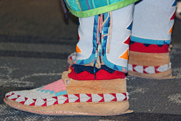 Suede Beaded Native American Moccasins