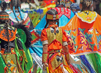 Colorful Regalia at Native American Powwow