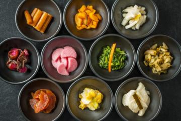 京都の漬け物 日本のグルメ  pickles of pickle Japan of Kyoto