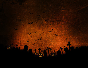 Fototapete - Grunge Halloween background