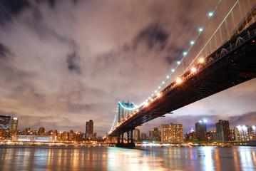 Wall Mural - New York City Manhattan Bridge over Hudson River