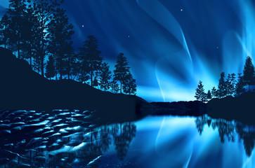 aurora borealis Fototapete