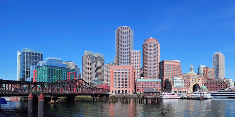 Wall Mural - Boston waterfront