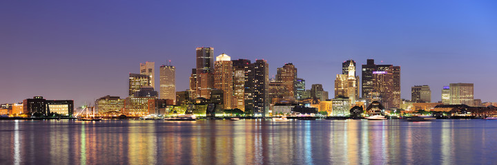 Boston downtown skyline panorama