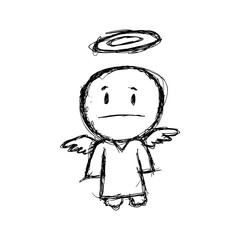 sketchy cartoon angel
