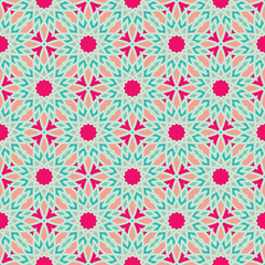 Seamless spirograph geometric texture vector background pattern