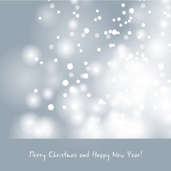 Abstract Christmas background greeting with snowfalls
