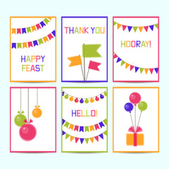 Six templates for greeting cards