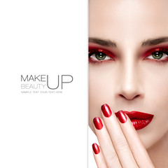 Beauty and Makeup concept. Fashion Nail Art