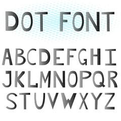The English alphabet. Dot font.