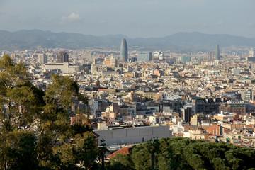 вид на Барселону с высоты