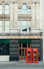 Wall Mural - Red telephone booth