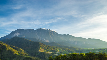 View of Mount Kinabalu  from Mesilau, Sabah on September 30, 2015. The highest mountain in Malaysia with elevation is 4095m and it famous among tourist.