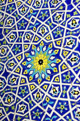 Traditional Moroccan tile pattern background