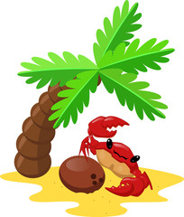 Crab and coconut