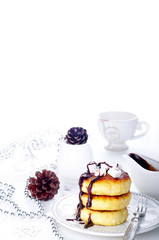 Traditional ukrainian cottage cheese cakes