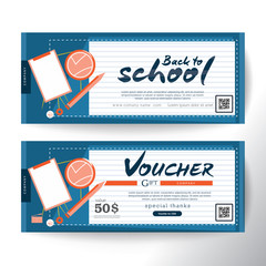 Gift Voucher concept back to school