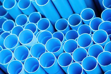 Blue pvc pipes