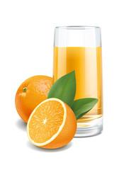 Oranges juice illustration