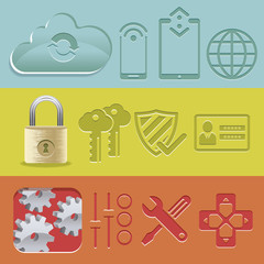 Mobility Security Control Icons Set