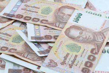 1000 Thai banknote background,macro shot.
