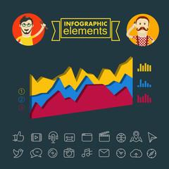 Business infographic elements illustration. Vector clip-art