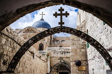 Via dolorosa, Station IX, Jerusalem Old City