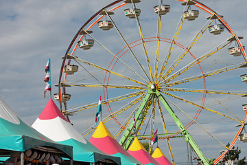 Fair Tents and Ferris Wheel