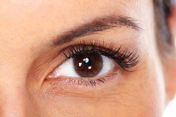 Beautiful young woman eyes.
