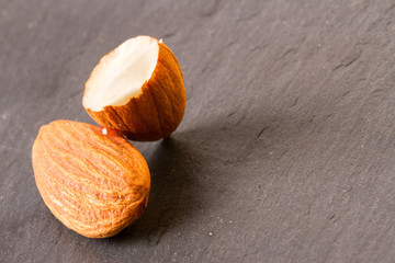 two almonds