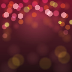 Abstract Blurry Background with Bokeh Defocused Lights