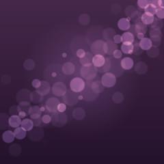 Abstract Dark Purple Background with Bokeh Defocused Lights