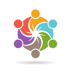 People logo template. Social media network