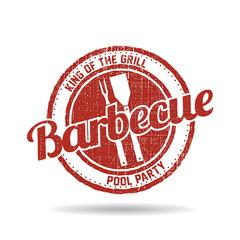 BBQ Barbecue Menu Stamp graphic