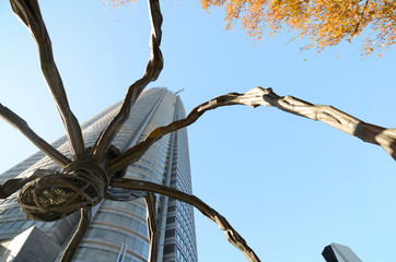 Spider statue, The Symbol of Roppongi Hills in Tokyo