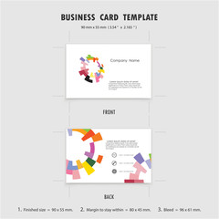 Abstract Creative Business Cards Design Template, Size 90mmx55mm