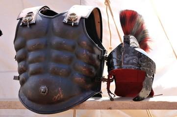 black ancient roman armor