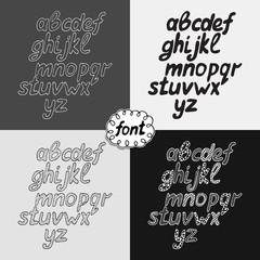 hand drawn alphabet set