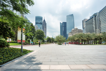 Fotomurales - modern square and skyscrapers