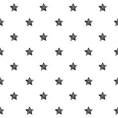Stars scribble sketch pattern background.