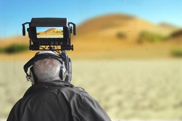 Cameramen del deserto della Namibia