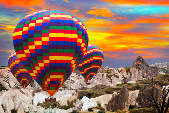 ballooning mountain CappadociaTurkey.