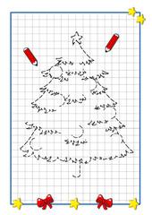 gioco di Natale, albero