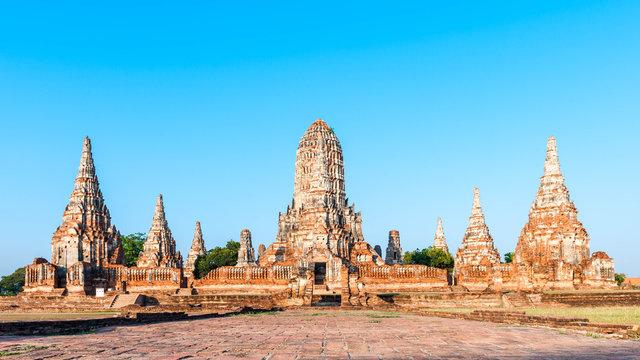 Old Temple wat Chaiwatthanaram of Ayutthaya Province( Ayutthaya Historical Park )Asia Thailand