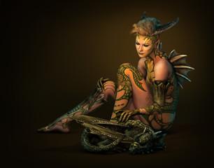 Dragon Mom, 3d CG