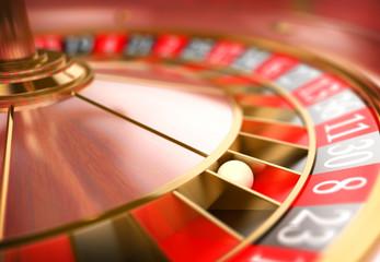 3D Casino roulette. Gambling concept